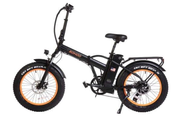 "SOHOO 20"" Adult Folding Snow Beach Mountain Electric Bike"