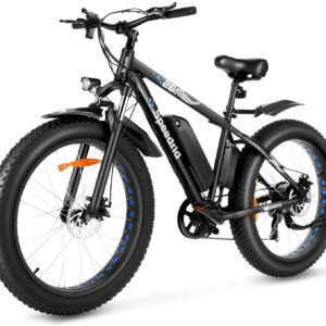 """Speedrid 26"""" Big Wheels Fat Tire Commuter Mountain Electric Bike"""