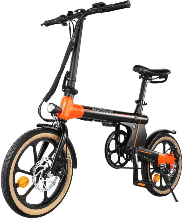 "Macwheel 16"" Folding Small City Electric Bike"