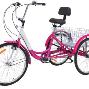 Slsy 7 Speed Adult Tricycles, Adult Trikes Wheel Cruiser Bike