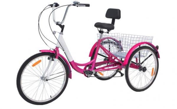 Slsy 7 Speed Adult Tricycles, Adult Trikes Wheel Cruiser Bike