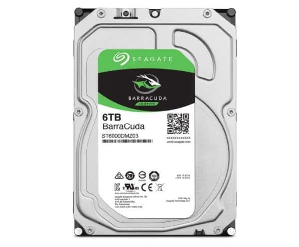 Seagate BarraCuda 6TB 3.5 Inch SATA 6 Gb/s Internal Hard Drive
