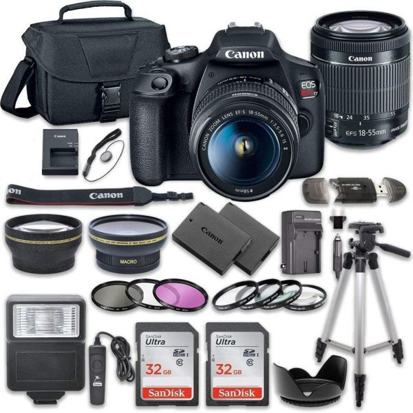 Canon EOS Rebel T7 DSLR Digital Camera Bundle with Accessory Kit