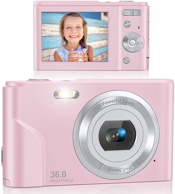 Lecran FHD Digital Camera for Students Teens Kids