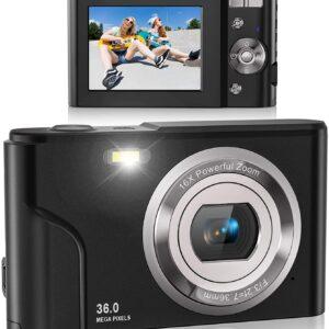 Lecran FHD 1080P 16X 36 MP Vlogging Digital Camera for Students, Teens, Kids