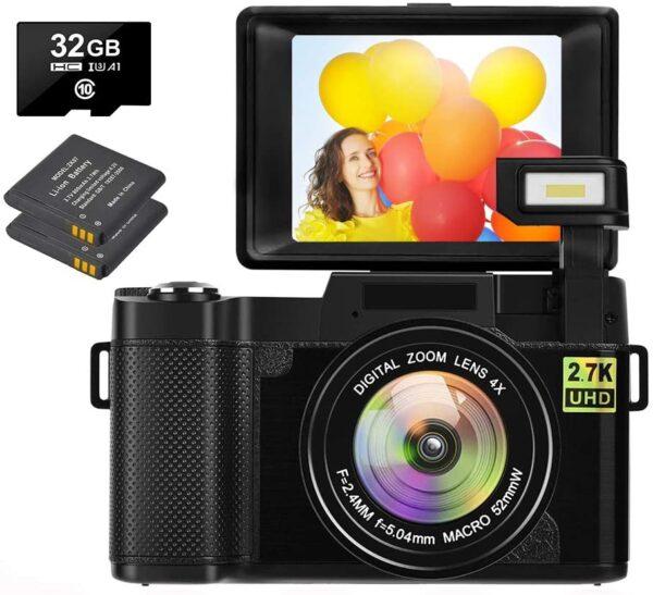Vlogging 2.7K Digital Camera for YouTube Review